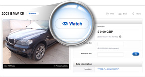 Online Vehicle Auctions Watchlists - Copart Germany
